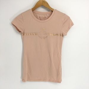Guess Rose Gold Short Sleeve  Crew Neck Tee